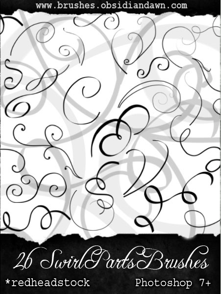 photoshop brushes swirls. Swirl Parts Photoshop Brushes