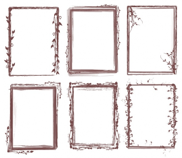 free photoshop frames vintage. Brush Pack - Grungy Frames 02. Added on August 14th 2008. , Tagged :