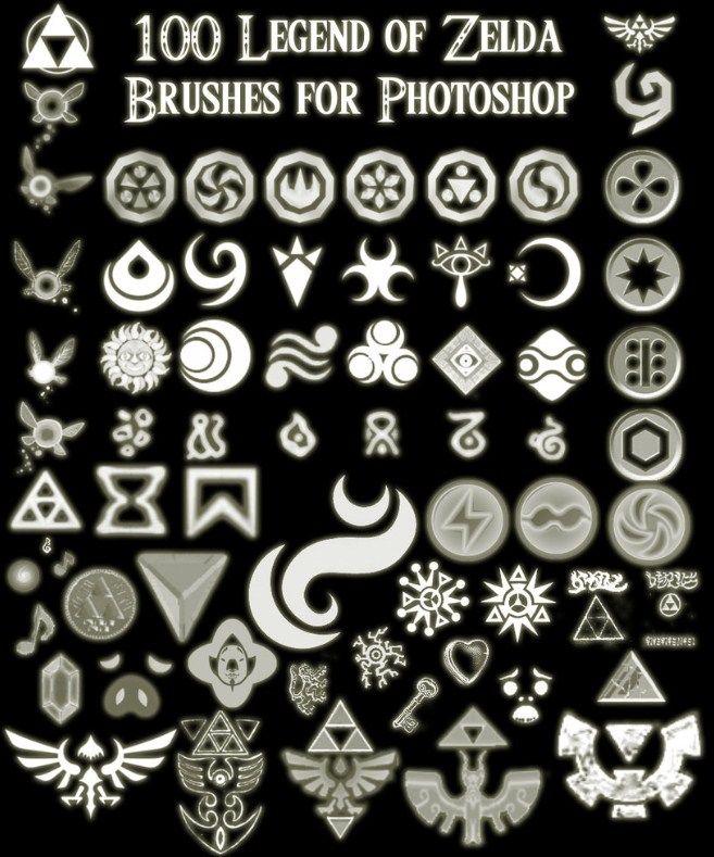 100 Zelda Photoshop Brushes 443 Brushking