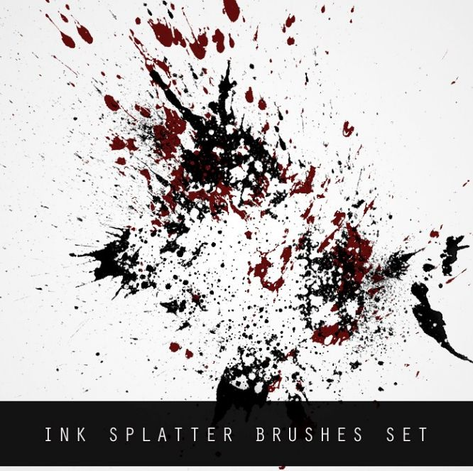 Free Photoshop Brush Sets Ink Splatter Brush Set