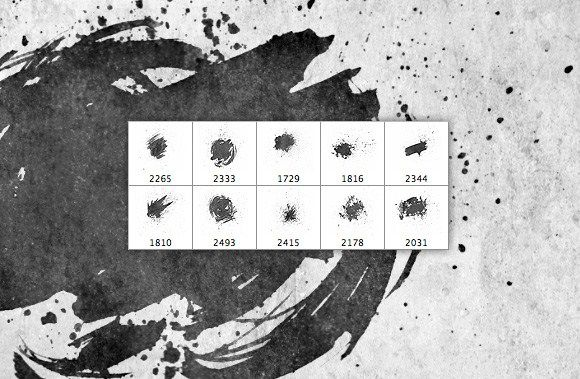 Free Photoshop Brush Sets Free Faded Splatters