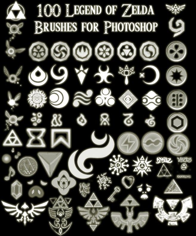 100 Zelda Photoshop Brushes 443 Brushking